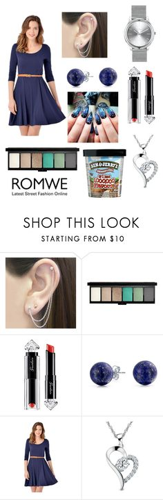 """Romwe"" by maya2005 ❤ liked on Polyvore featuring Otis Jaxon, MAC Cosmetics, Guerlain, Bling Jewelry, J.A.K. and Kennett"