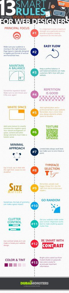 Infographic: 13 Smart Rules For Using Visual Hierarchy For Web Designers - DesignTAXI.com