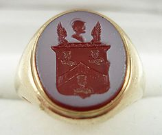 Sold for 590 GBP Ring Bear, Wax Stamp, Lord Of The Rings, Signet Ring, Seals, Jewerly, Monogram, Antiques, Gold