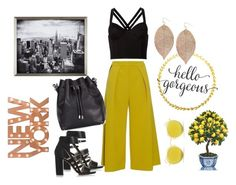 """New York Street Style"" by fashion-district ❤ liked on Polyvore featuring Roksanda, Fleur du Mal, Proenza Schouler, MICHAEL Michael Kors, Dot & Bo, Humble Chic, Ray-Ban, black, MustardYellow and NewYorkCity"