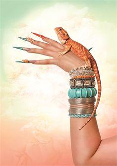 Ibiza-Inspired Nail Art