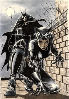 Catwoman featuring Bats by ~julianlopezart on deviantART