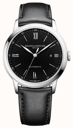 Discover the Classima 10453 dial & Calfskin watch for men with Automatic, self-winding movement, designed by Baume et Mercier, Manufacturer of Swiss Watches Bracelet Cuir, Automatic Watch, Mens Gift Sets, Luxury Watches, Omega Watch, Watches For Men, Men's Watches, Jewelry Watches, Jewelry Accessories