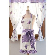 Dekoria Fartuszek Violet Butterfly damski - cena