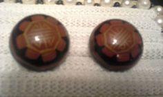 Vintage Large wooden pierced huggie earrings brown & black (k) Clip On Earrings, Pierced Earrings, Retro Costume, Brown, Ebay, Vintage, Store, Black, Wood