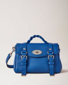 1025 Mini Alexa | Porcelain Blue Heavy Grain | Mini & Micro Bags | Mulberry