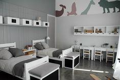 gray kids' bedroom