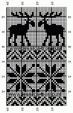 Discover thousands of images about free crochet filet patterns gratis filet haken haakpatronen Fair Isle Knitting Patterns, Knitting Charts, Knitting Designs, Knitting Stitches, Knitting Projects, Knitting Kits, Filet Crochet, Crochet Chart, Crochet Patterns