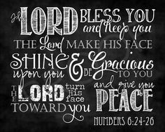Numbers 6:24-26