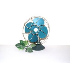 Vintage Industrial Fan by CheekyVintageCloset on Etsy, $54.00