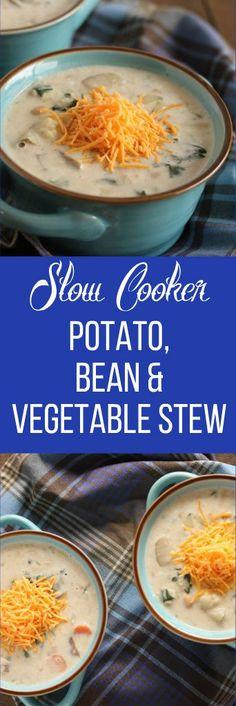 slow cooker vegetable bean potato stew