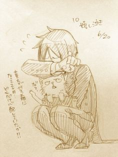 """Sebastian: """"It's been two months since you went missing… Can you imagine how much I've worried about you!!""""  Cat: """"Mew?"""""""