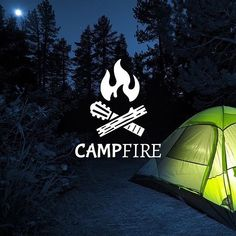 Follow us  @logoinspirations Campfire by @emberstudio - Want to be featured next? Follow us and tag #logoinspirations in your post