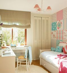 Интерьер комнаты в стиле кантри для девочки подростка