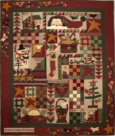 Comfort and Joy(Silver Thimble Quilt Co. designers Pat Wys and BJ Laird. Quilted by Leisa Wiggley. Love it.