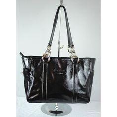 "COACH Patent Leather Tote Handbag Purse Black Pristine condition. Zipper top closure. 11"" strap drop. 9""x13""x4"". Two side pockets. Coach Bags Totes"