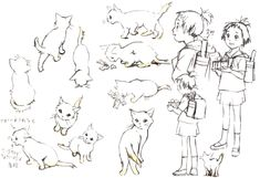 Art of the Cat Returns Good Animated Movies, The Cat Returns, Illustration Story, Studio Ghibli Movies, Body Drawing, Cool Animations, Japanese Artists, Artist At Work, Anime Art