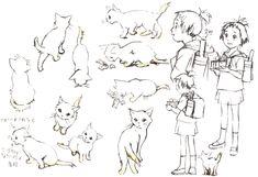 Art of the Cat Returns Studio Ghibli Characters, Studio Ghibli Movies, Comic Character, Character Design, Good Animated Movies, The Cat Returns, Illustration Story, Cool Animations, Sketch Design