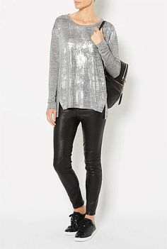 New In: Women's Clothing - Witchery - Longsleeve Foil Print Top