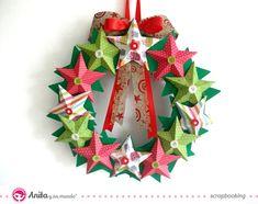 Cómo hacer una corona de Navidad con papel