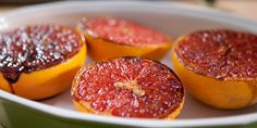 In Toaster Oven... Brown Sugar-Spiced Grapefruit Need to cut sweetness