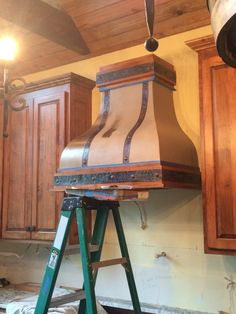 Kristen F. Davis Designs: Stove Hood Painted To Look Like Copper