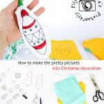 How to make the pretty pictures into Christmas decoration