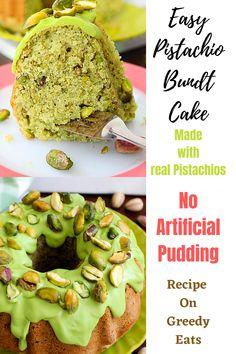 Easy Cupcake Recipes, Pound Cake Recipes, Frosting Recipes, Bundt Cake Glaze, Bundt Cakes, Breakfast Bundt Cake, Sour Cream Pound Cake, Vegetarian Desserts, Pistachio Pudding
