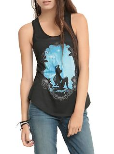 Disney The Little Mermaid Ariel Silhouette Girls Tank Top | Hot Topic