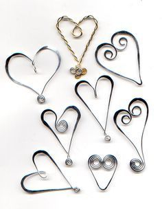 Tutorial from WireWorkers Guild - wire hearts and pendants is various configurations. #wire #jewelry #tutorial