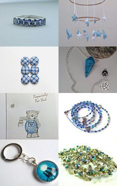 Blue Skies of Summer by Jacquelyn Jones on Etsy--Pinned with TreasuryPin.com #promotingwomen