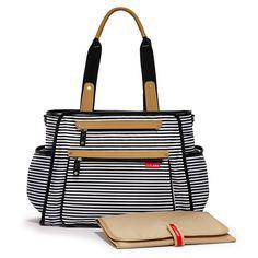 My dream diaper bag!!!!! Skip Hop Grand Central diaper bag (Black and White Stripes)