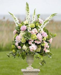 Beautiful #pink and #green arrangement