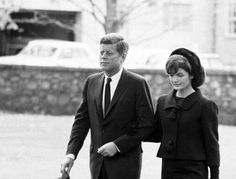 JFK and Jackie at Eleanor Roosevelt's funeral, 1962