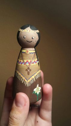 Saint Kateri Tekakwitha Peg Doll by Exprimere on Etsy