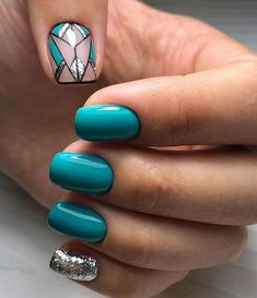 Beautiful Nail Art Designs & Ideas 2019 The post Beautiful Nail Art Designs & Ideas 2019 appeared first on nageldesign. Turquoise Nail Art, Teal Nails, Sparkly Nails, Fun Nails, Matte Nails, Turquoise Nail Designs, Nail Art Designs, Simple Nail Designs, Acrylic Nail Designs