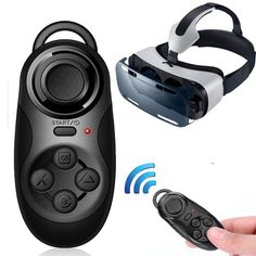 New 4 in1 Mini Wireless Portable Bluetooth Remote Gamepad Game Controller Joystick For Samsung Gear VR Virtual Reality Glasses