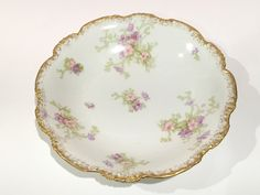 French Pouyat Limoges Bowl, J P Over L mark, 1800s Limoges, French Porcelain, Antique Limoges, French Limoges Vegetable Bowl by AprilsLuxuries on Etsy