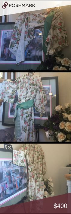 Authentic Japanese Vintage Silk Kimono Absolutely gorgeous authentic Japanese Silk Kimono in pristine condition. Size Small to Medium by my determination as their is no size. Completely lined. made in Japan Dresses Maxi