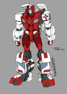 TF: MTMTE First Aid Design    the design and color mock up for First Aid. one of the characters to appear in the new Transformers MTMTE series by IDW  Designed by Alex Milne