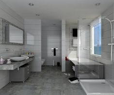 Baños modernos: 6 tendencias. Descubrí más en; https://www.homify.com.ar/libros_de_ideas/239941