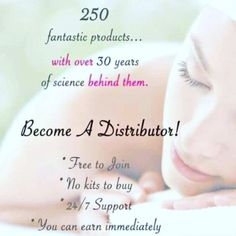 Free to join! Become A Distributor, Anti Aging Skin Care, 30 Years, New Friends, Love Life, Earn Money, How To Become, Personal Care, Science