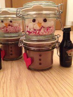 Hot chocolate snowman ⛄️ #christmas #gift #crafts #fun #creative #yum