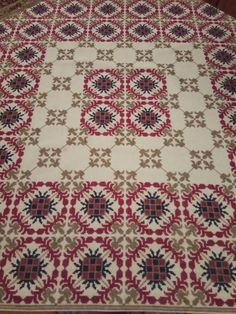 Vintage Embroidery, Cross Stitch Embroidery, Needlework, Diy And Crafts, Bohemian Rug, Rugs, Crochet, Projects, Crossstitch