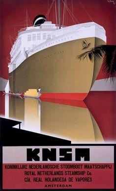 KNSM Royal Netherlands Steamship Amsterdam - www.MadMenArt.com features over…