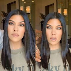 The makeup products that Kourtney Kardashian uses – My hair and beauty Short Dark Hair, Very Short Hair, Kourtney Kardashian, Kardashian Style, Kortney Kardashian Hair, Kardashian Family, Long Bobs, Pixie Hairstyles, Short Hairstyles For Women