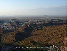 Views while hiking Camelback Mountain in Phoenix, AZ