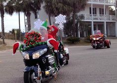 There was a Christmas biker gang on hand!