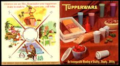 Tupperware, catalog early 1960. (front & back cover)