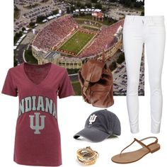 """""""Indiana Hoosiers Tailgate"""" by krista-lepore on Polyvore"""